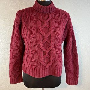 Vintage Gottelier Cropped Cableknit Sweater M Red